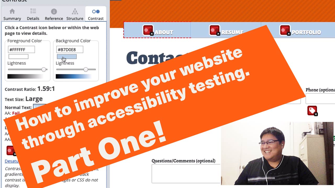 How to improve your website through accessibility testing (part 1).