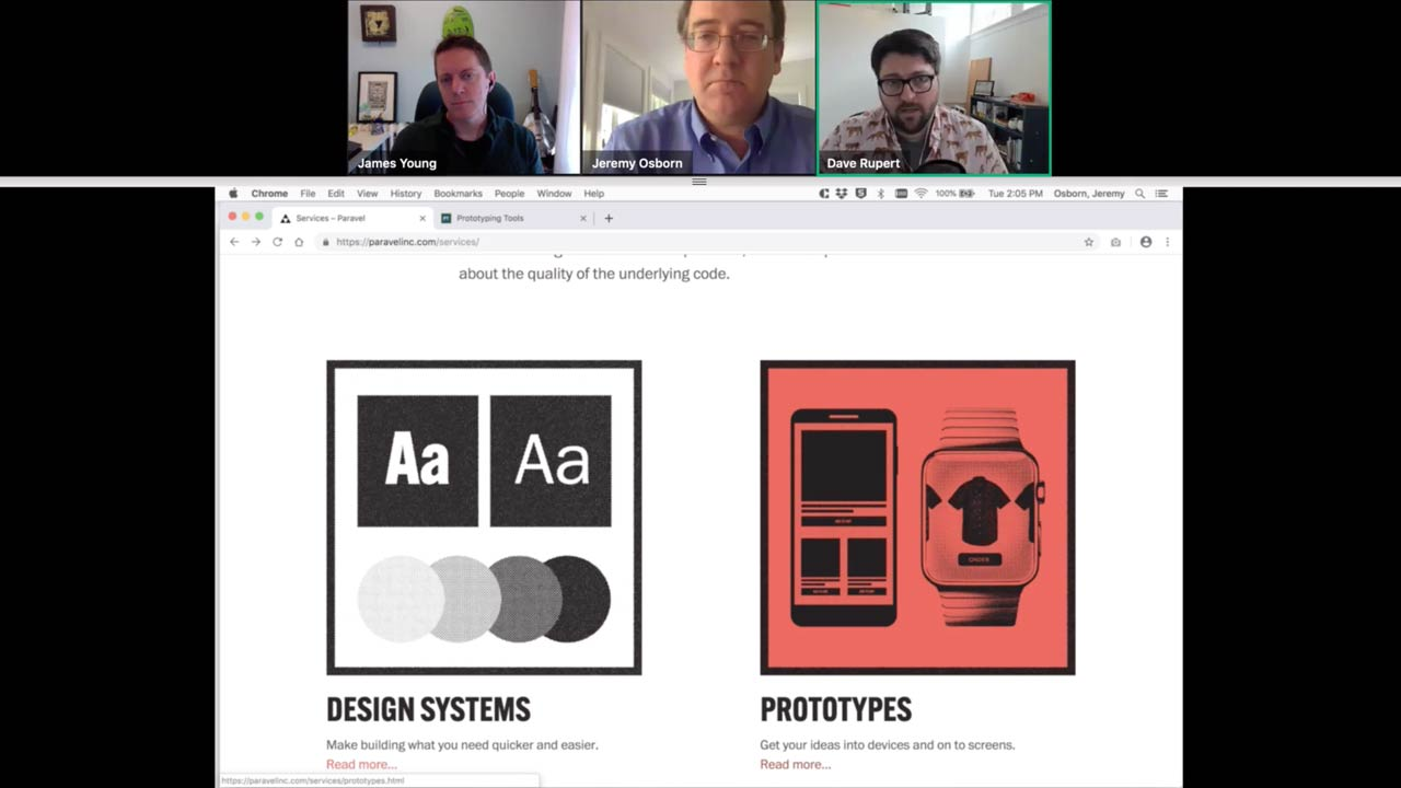 Design Systems and Prototypes slide from webinar.