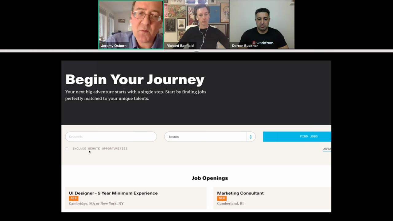 Begin your journey by watching our Remote Work webinar with industry experts Richard Banfield and Darren Buckner.